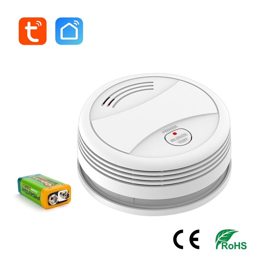 Eachen Wifi Strobe Smoke Detector Sensor Phone Call Push